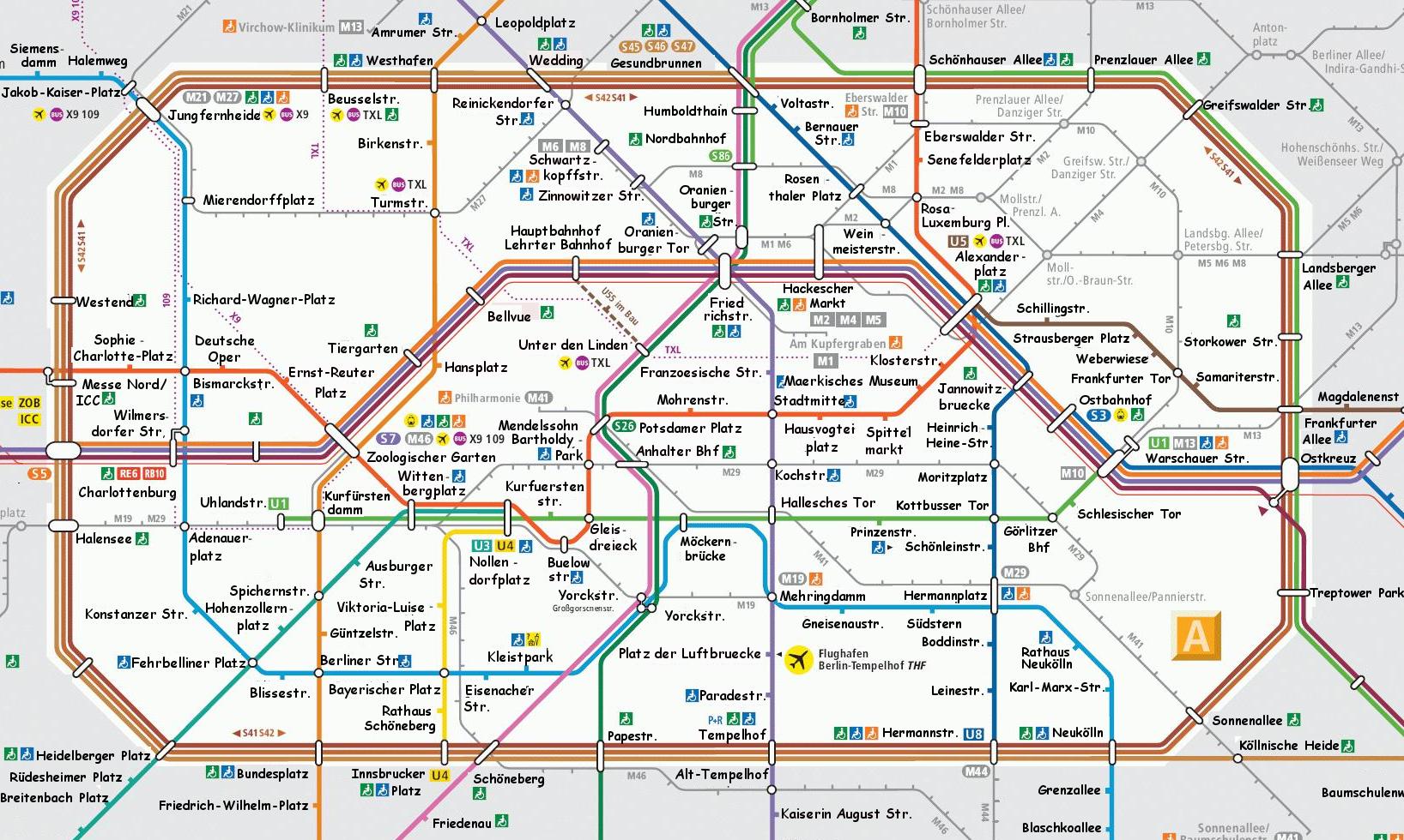 U Bahn Map Berlin U Bahn Map with actual names of Stations but in Comic Sans U Bahn Map